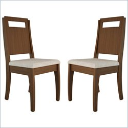 Manhattan Comfort Ferry Dining Chair in Nut Brown (Set of 2)