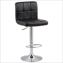 Manhattan Comfort Paladino Adjustable Bar Stool in Black
