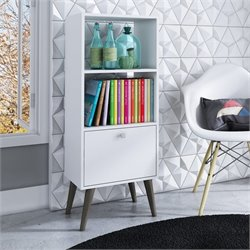 Manhattan Comfort Sami 2 Shelf Bookcase in White