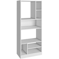Manhattan Comfort Valenca 3.0 Series 8 Shelf Bookcase in White