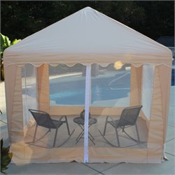 Garden Party Gazebo in Almond