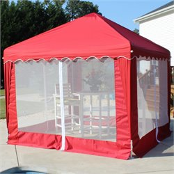 King Canopy 10' X 10' Garden Party Backyard Gazebo in Red