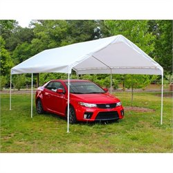 King Canopy 10' x 20' 6 Leg Universal Canopy in White