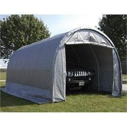 King Canopy 10' x 20' Dome Garage Canopy in Silver