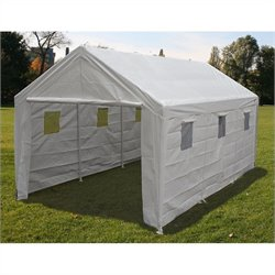 King Canopy 10' x 20' Hercules Snow Load Canopy in White