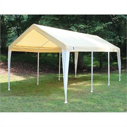 King Canopy 10' x 20' Hercules Canopy in Tan and White
