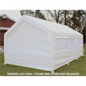 King Canopy 10' x 20' Canopy Sidewall Kit with Flaps and Bug Screen