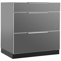 NewAge Outdoor Kitchen 3 Drawer Cabinet in Slate