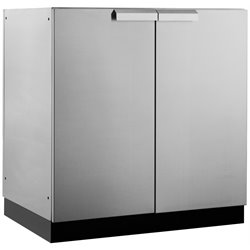 NewAge Outdoor Kitchen 2 Door Cabinet in Silver