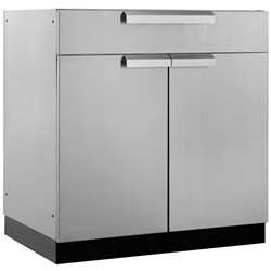 NewAge Outdoor Kitchen Bar Cabinet in Silver