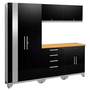 NewAge Performance 2.0 6 Piece Cabinet Set in Black (A)