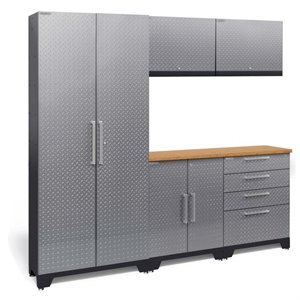 NewAge Performance 2.0 6 Piece Diamond Plate Cabinet Set in Silver (A)