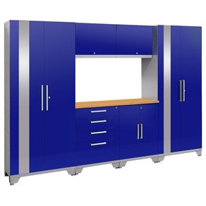 NewAge Performance 2.0 7 Piece Cabinet Set in Blue (A)