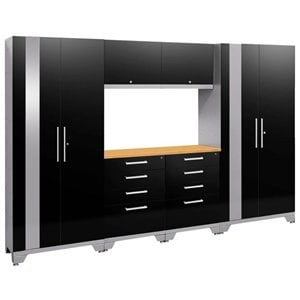 NewAge Performance 2.0 7 Piece Cabinet Set in Black (B)