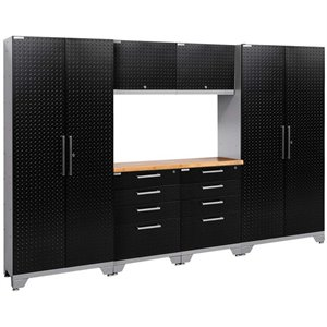 NewAge Performance 2.0 7 Piece Diamond Plate Cabinet Set in Black (B)