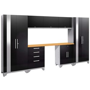 NewAge Performance 2.0 8 Piece Cabinet Set in Black (A)