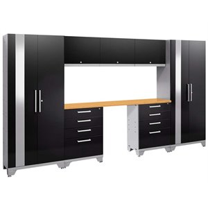 NewAge Performance 2.0 8 Piece Cabinet Set in Black (B)