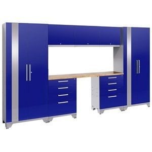 NewAge Performance 2.0 8 Piece Cabinet Set in Blue (B)
