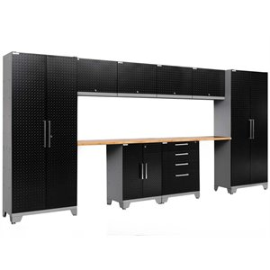 NewAge Performance 2.0 10 Piece Diamond Plate Cabinet Set in Black (A)