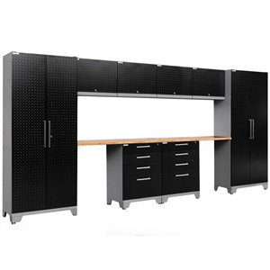 NewAge Performance 2.0 10 Piece Diamond Plate Cabinet Set in Black (B)