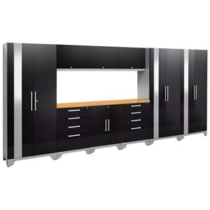 NewAge Performance 2.0 10 Piece Cabinet Set in Black (C)