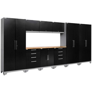 NewAge Performance 2.0 10 Piece Diamond Plate Cabinet Set in Black (C)