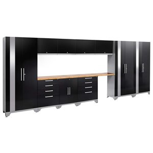 NewAge Performance 2.0 12 Piece Cabinet Set in Black (B)