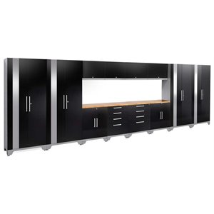 NewAge Performance 2.0 14 Piece Cabinet Set in Black (B)