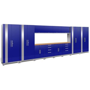 NewAge Performance 2.0 14 Piece Cabinet Set in Blue (A)