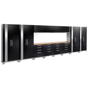 NewAge Performance 2.0 14 Piece Cabinet Set in Black (C)