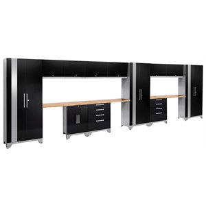NewAge Performance 2.0 15 Piece Cabinet Set in Black (A)
