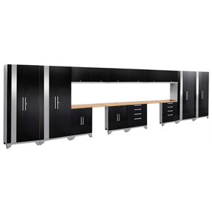 NewAge Performance 2.0 16 Piece Cabinet Set in Black (A)