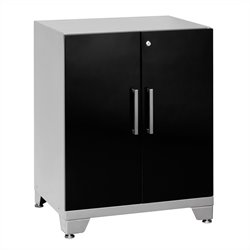 Newage Performance Plus Series 2 Door Garage Base Cabinet in Black