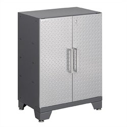 Newage Performance Diamond Series 2 Door Garage Cabinet in Silver