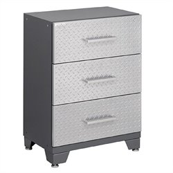 Newage Performance Diamond Series Tool Garage Cabinet in Silver