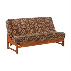 Night and Day Eureka Wood Full Futon Frame in Honey Oak