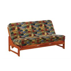 Night and Day Eureka Wood Full Futon Frame in Teak