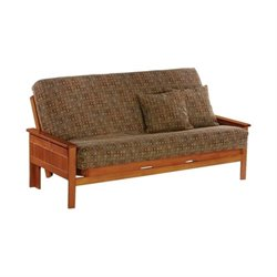 Night and Day Seattle Full Wood Futon Frame in Honey Oak
