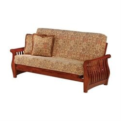 Night and Day Nightfall Full Wood Futon Frame in Cherry