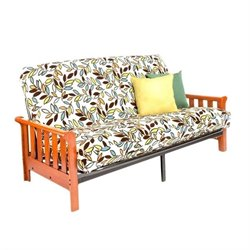 Night and Day Boca Full Wood and Metal Futon in Cherry