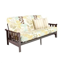 Night and Day Boca Full Wood and Metal Futon in Chocolate
