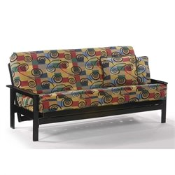 Night and Day Albany Full Wood Futon Frame in Black