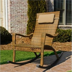 Tortuga Maracay Rocking Chair in Antique Brown