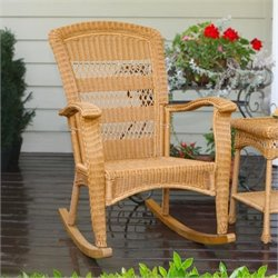 Tortuga Portside Plantation Rocking Chair in Amber