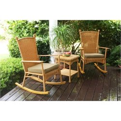 Tortuga Portside 3 Piece Patio Bistro Set in Amber