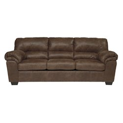 Ashley Bladen Faux Leather Sofa in Coffee
