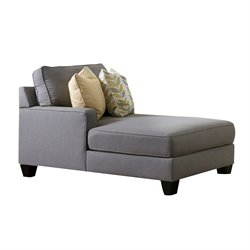 Ashley Chamberly Left Arm Facing Corner Chaise in Alloy