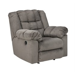 Ashley Mort Rocker Recliner in Charcoal