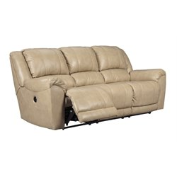 Ashley Yancy Reclining Leather Sofa in Galaxy