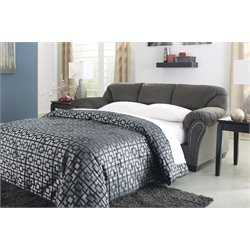 Ashley Kinlock Full Sleeper Sofa in Charcoal